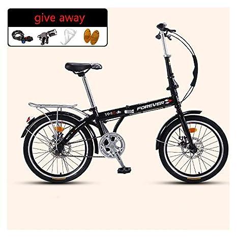 SYLTL Bicicleta Plegable Urbana Unisex Portátil Folding Bike ...