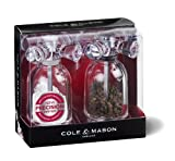 COLE & MASON Tap Salt and Pepper Grinder Set - Acrylic Mills Include Precision Mechanisms and Premium Sea Salt and Peppercorns
