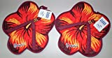 Hawaii Style Hard Floor Cleaning Slippers - FLOOR BUDDY - Hibiscus - One (1) Pair