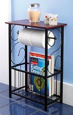 Gramercy Bathroom Toilet Paper Holder & Storage Organizer