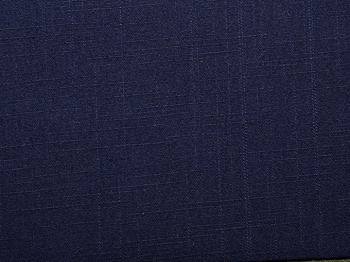Textured Weave Cotton Spandex Dress Fabric Navy Blue - per metre