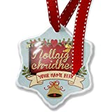 Add Your Own Custom Name, Merry Christmas in Scottish Gaelic from Scotland Christmas Ornament NEONBLOND