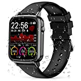 2020 CEGAR Version Fitness Tracker, Smart Watch with Heart Rate Blood Pressure, Ip68 Waterproof Bluetooth Smartwatch for Android iOS Phone, Sleep Tracking Calorie Counter,Pedometer Stopwatch for Women Men