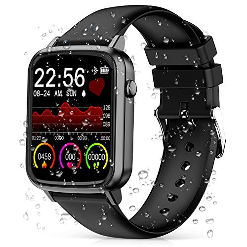 2020 CEGAR Fitness Tracker, Smart Watch with Heart Rate, Ip68 Waterproof Bluetooth Smartwatch for Android iOS Phone…