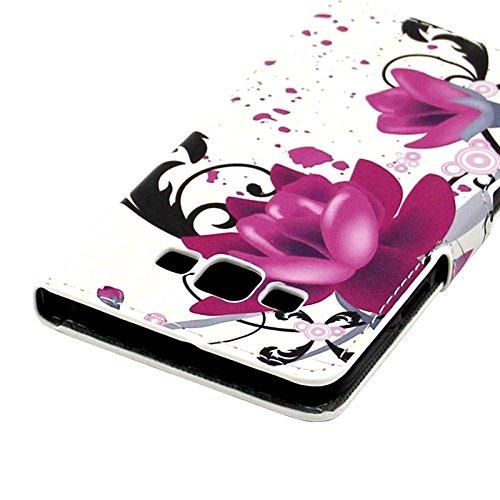 Fashion & personality Colorido mariposa y círculo patrón horizontal Flip caja de cuero con titular y ranuras para tarjetas y cartera para Samsung Galaxy E7 / E700 ( SKU : S-SCS-4226D ) S-SCS-4226J