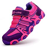 DADAWEN Boy's Girl's Casual Strap Light Weight Sneakers Running Shoes(Toddler/Little Kid/Big Kid) New Rose Red US Size 1 M Little Kid