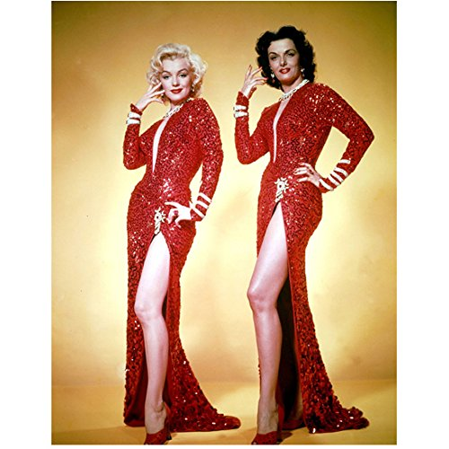 Marilyn Monroe and Jane Russell Looking Good in Red Ready to Dance 8 x 10 Inch Photo