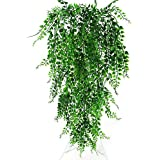 82Cm Green Artificial Plant Vines Wall Hanging Fake Leaves Plant Simulation Orchid Fake Flower Rattan for Home Garden…