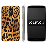 lg 3 bumper - LG Stylo 3 Soft Mold [Mobiflare] [Clear] Thin Gel Protect Cover - [Cheetah Print] for LG Stylo 3 [5.7