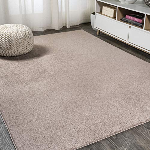 JONATHAN Y Haze Solid Low-Pile Brown 8 ft. x 10 ft. Area Rug, Casual,Contemporary,Solid,Traditional,EasyCleaning,Bedroom…