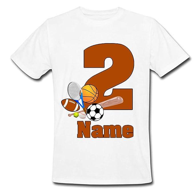 e2ae470b Sprinklecart Sports Theme Printed Kids Birthday Tshirt | Kids Unique 2nd Birthday  Tee Gift for Your