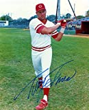 Autographed Tracy Jones Photograph - 8x10 Bat - Autographed MLB Photos
