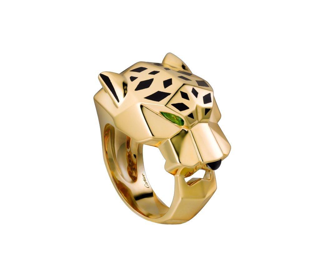 c38bbc26b037d Amazon.com: Cartier Panther 14k Yellow Gold Pear Emerald Black ...