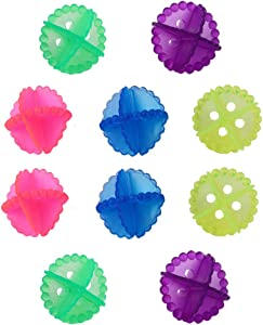 MSQL Crystal Laundry Ball Colorful Solid Wash Balls Reuseable Washing Balls, Saves Drying Time, Reduce Wrinkles(10 Pcs, Random Color)