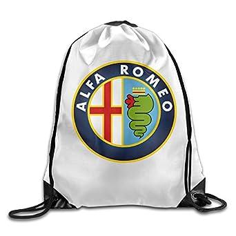 Amazon.com   SDIFJDO Alfa Romeo Logo Drawstring Backpack