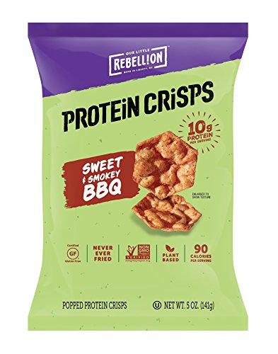 PopCorners Flex Barbecue Vegan Protein Crisps | Plant-Based Protein, Gluten Free Snacks | (12-Pack, 5 oz Snack Bags)
