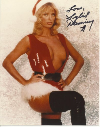 Sybil Danning hand-signed 8 x 10 photo C of A sexy Santa outfit #7 ()