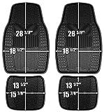 Custom Accessories Armor All 78895 4-Piece Black Heavy Duty Rubber Floor Mat