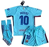 #1: MFooty Messi #10 FC Barcelona 2017/2018 Away Jersey Shorts and Socks for Kids/Youths