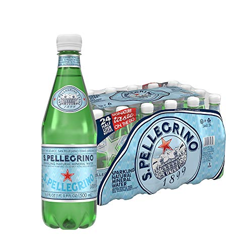 S.Pellegrino Sparkling Natural Mineral Water, 16.9 fl oz. (24 Count) ()