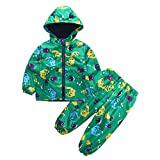 Toddler Boys Girls 12 Months-5T Clothes,Raincoat Waterproof Hooded Jacket Dinosaur Coat+Pants Suit