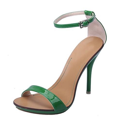 MujerColor Katypeny 35 VerdeTalla Tacón Zapatos Eu 5 De Rqc54L3jA