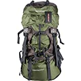 WASING 55L Internal Frame Backpack Hiking Backpacking Packs for Outdoor Hiking Travel Climbing Camping Mountaineering with Rain Cover WS-55Lpack-green