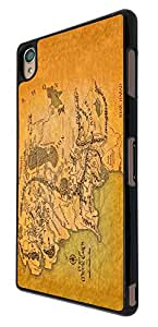 873 - Lord of the Ring map of middle earth Design For Sony Xperia Z3 Fashion Trend CASE Back COVER Plastic&Thin Metal