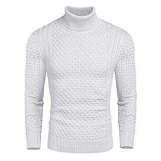 Men's Warm White Sweater