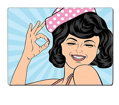MSD Placemat IMAGE 36851262 pop art cute retro woman in comics style laughing vector illustration (Sexy Female Cartoon Characters)