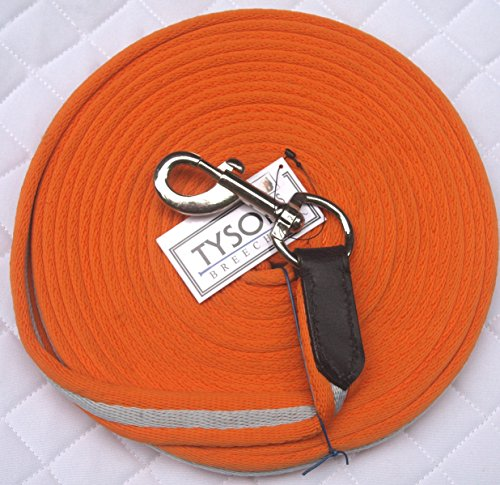 Longe Longierleine Softlonge Orange 8 Meter Pferdelonge Drehkarabiner Schleppleine