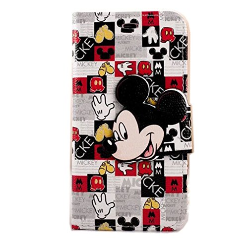 Cute 3D Minnie Mouse iphone 6s Case,iphone 6 Mickey Mouse Wallet Case,MODEFAN Folio Leather Stand [Wallet] Shell Cover with Card Holder for Apple iPhone 6 6S (4.7 inch)-Pattern 08