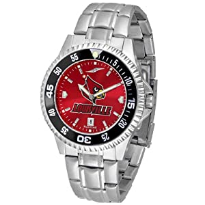 NCAA University of Louisville Mens Stainless Watch COMPM-AC-LOC