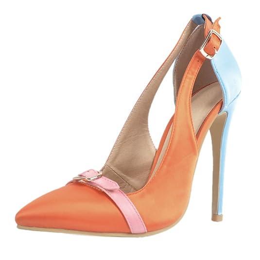 Kolnoo Femmes Buckle J-strap D'orsay High Heel Party Casual Mode Pompes Chaussures EU44 wijAXy2L