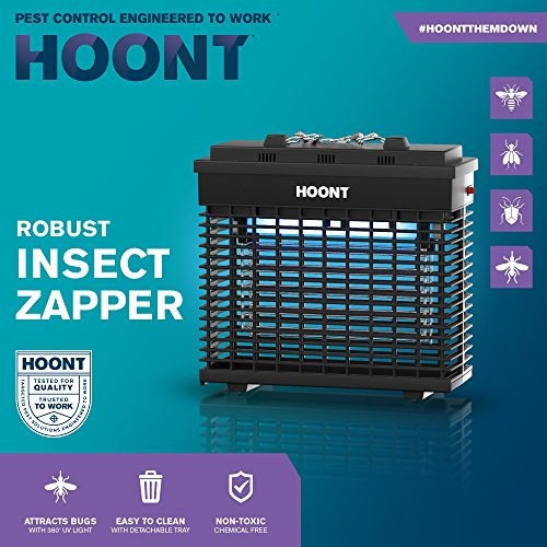 hoont robust electric indoor bug zapper and fly zapper killer