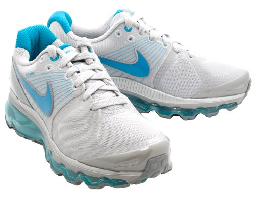 NIKE Women's Air Max + 2010 Metallic Silver/Glass Blue-Cool Grey 386374-051 Shoe buy cheap online from china free shipping low price cheap USA stockist in China sale online cheap sale buy WA8J5x