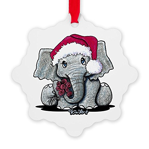 CafePress - Kiniart Elephant - Snowflake Ornament, Decorative Christmas Ornament