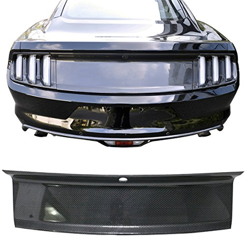 Trunk Boot Cover Overlay Fits 2015-2019 Ford Mustang | Trunk Boot Cover Panel Decorating Board Carbon Fiber Look by IKON MOTORSPORTS ()