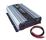 VertaMax 3000 Watt (6000W surge) 12V Pure Sine Wave Power Inverter DC to AC Car, Solar, Off-Grid, RV (1/0 Cables Included)