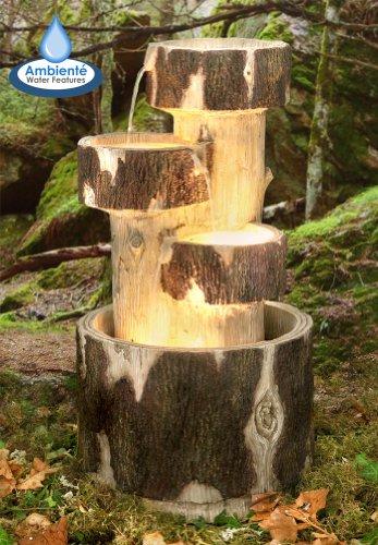 Holzklötze Kaskadenbrunnen mit Beleuchtung