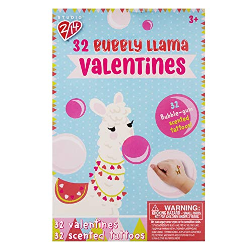 Bubbly Llama Valentines with Bubble Gum Scented - Bubble Cards Gum Trading