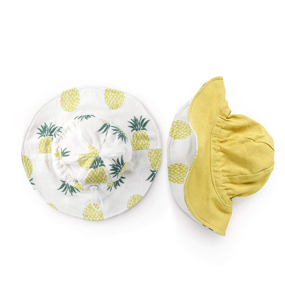 NN Sun hat Fisherman hat Infant Child boy Girl Sunscreen Wide Side Spring and Summer, Sunshade, Both Sides can be Brought, Folding Small, Cotton, a Variety of Colors to Choose from Children's Outdoor