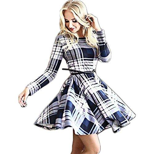 CRAVOG Damen Abendkleider Kleider Partykleid Minikleid Rockabilly Kleider