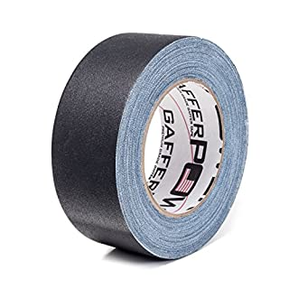 Gaffer Power Premium Grade Gaffer Tape, Made in the USA, Heavy Duty gaff Tape, Non-Reflective, Multipurpose. 2 Inches x 30 Yards, Black