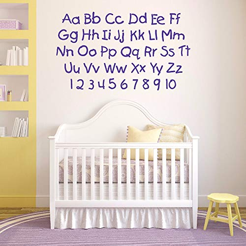 Poesr Removable Vinyl Wall Stickers Act Mural Decal Art Home Decor Kids Room Alphabet and Numbers Nursery Letters Children's Room Kids Learning