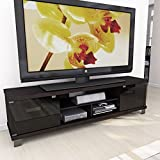 Sonax B-207-CHT Holland 70.75-Inch Extra Wide TV/Component Bench, Ravenwood Black