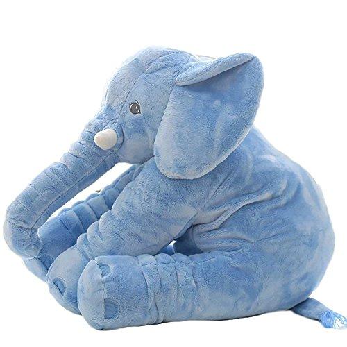 LOVOUS Super Soft Cute Big Stuffed Elephant Plush Doll, Baby Elephants Toys (Blue)