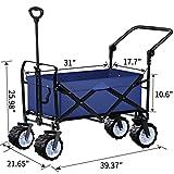 BEAU JARDIN Folding Push Wagon Cart Collapsible
