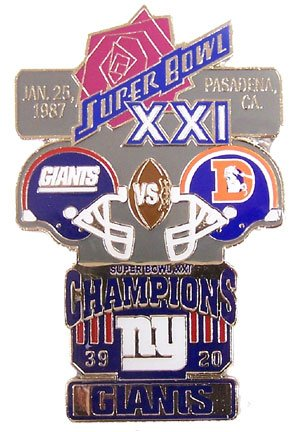 Super Bowl XXI Oversized Commemorative Pin by Pro Specialties Group