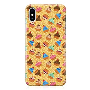 Loud Universe Case for iPhone XS Wrap around Edges Bakery Party Cupcakes Pattern Rugged Durable Sleek Low Profile iPhone XS Cover